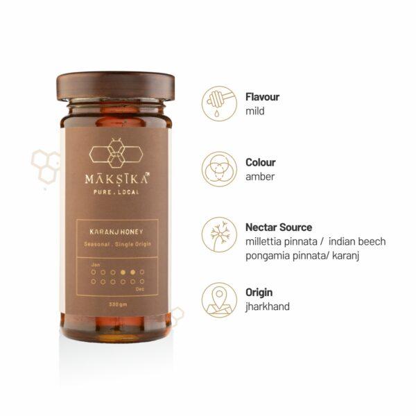 Karanj Honey Benefits- Pure Flavoured Honey by Maksika