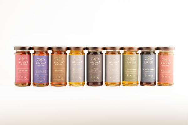 Maksika Honey Product Range - Variety of Pure Flavoured Honey