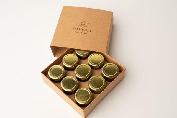 Maksika Honey Metal Lid Box